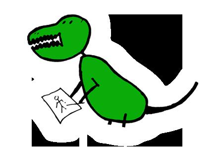 I Draw Bad dinosaur logo